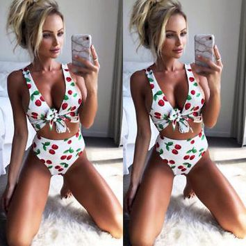 Women  Swimsuit  print Set