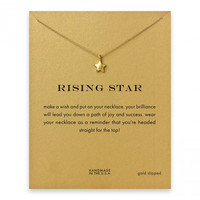 Hot Sale Sparkling full star gold plated Pendant necklace Clavicle Chains Statement Necklace Women Jewelry(Has card)