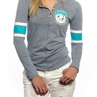 Miami Dolphins Womens Vintage Raglan Top | SportyThreads.com