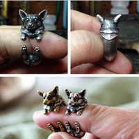 Animal Puppy Dog Rings for  Lovely Pet Vintage Rings Party Gifts
