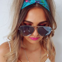 See Your Love Headband: Turquoise/Multi