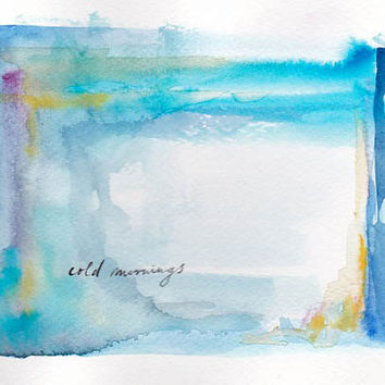 Original Painting - Cold Mornings - Original Watercolor, Aquacolor Painting - Small, Colorful Painting, Nursery Home Decor