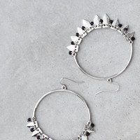 AEO LARGE FRONTAL HOOP EARRING, Silver