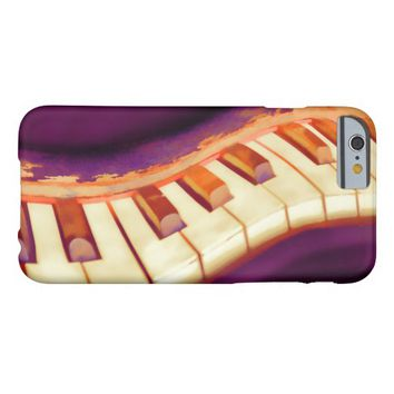 piano keyboard art on purple barely there iPhone 6 case