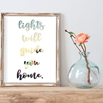 Fix You Coldplay Lyrics Modern Whimsical Print | Wall Decor
