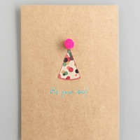 Neon Pom Pom Birthday Card