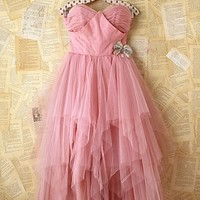 Free People Vintage Pink Tulle Dress