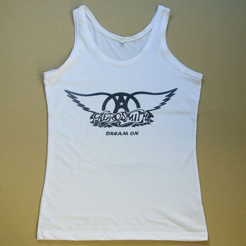 Aerosmith Shirt Tank Top T-Shirt Women Sleeveless T Shirts Vest Size S M L