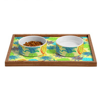 Lisa Argyropoulos Pineapple Pandemonium Yellow Pet Bowl and Tray