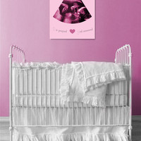 "Ultrasound Frame For Baby Room 16x16"" On Professional Canvas"