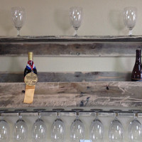 Wine Rack constructed from rustic pallet wood