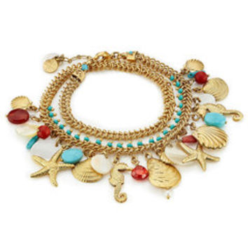 Searene 24K Gold-Plated Charm Bracelet - Gas Bijoux | WOMEN | US STYLEBOP.COM