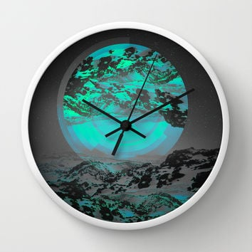Neither Up Nor Down II Wall Clock by Soaring Anchor Designs