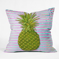 Madart Inc. Striped Pineapple Throw Pillow