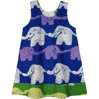 Reversible Dress for Baby - Dancing Elephants
