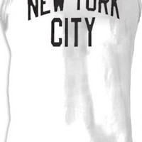 John Lennon NYC New York City Walls and Bridges Pose Cut-Off White T-shirt  - The Beatles - | TV Store Online