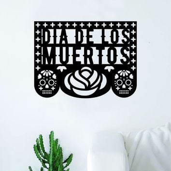 Dia De Los Muertos Art Wall Decal Sticker Vinyl Living Room Bedroom Decor Teen Day of the Dead Rose Sugarskull Sugar Skull Mexican