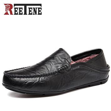 Fashion Casual Driving Shoes Genuine Leather Loafers Men Shoes New Men Loafers Luxury Flats Shoes Men