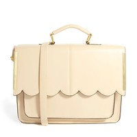 ASOS Satchel Bag With Scallop Bar Detail - Pink