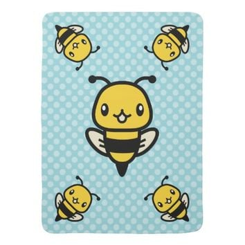 Cute Bees Baby Blankets