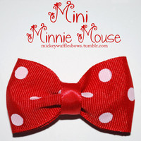 Mini Minnie Mouse Hair Bow