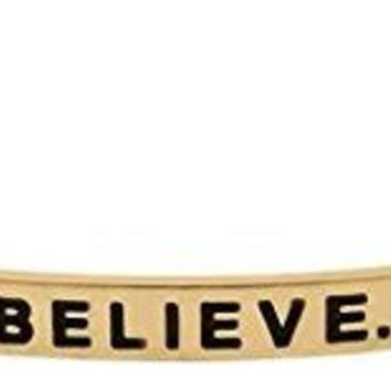 Inspirational DREAM BELIEVE ACHIEVE Motivational Cuff Bracelet for Good Karma and Luck