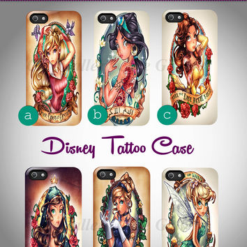 Disney Princess Tattoo iphone 4/4s/5/5c/5s case, Disney Princess Tattoo samsung galaxy s3/s4/s5, Disney Princess Tattoo samsung galaxy s3 mini/s4 mini, Disney Princess Tattoo samsung galaxy note 2/3