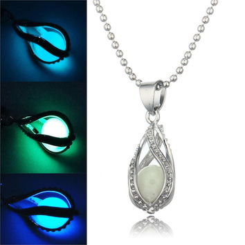 Little Mermaid inspired Glow in Dark Pendant Necklace