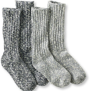 Men's Cotton Ragg Camp Socks, Two-Pack   Free Shipping at L.L.Bean