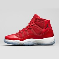 Air Jordan 11 Retro Win Like 96 AJ11 Gym Red Sneakers - Best Deal Online