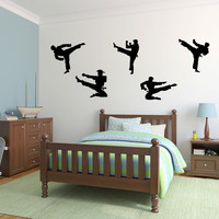 Karate Martial Arts Vinyl Wall Decal Sticker Graphic Set