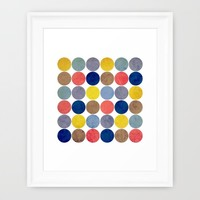Round and Round Framed Art Print by Miss L In Art