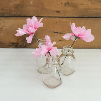 Glass Milk Bottles, Vintage Milk Bottles, Farmhouse Kitchen, Country Decor