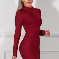 Sasha Burgundy Mini Dress