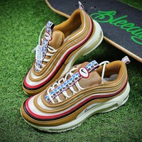 New NIKE AIR MAX 97 TT PRM Brown Bullet Sport Shoes AJ3053-200 - Best Online Sale