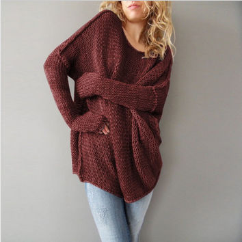 Long Sleeve Knit Tops Pullover Sweater [9600185103]