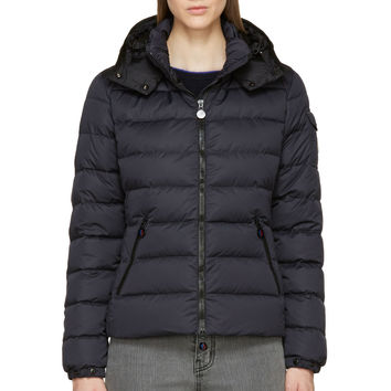 Moncler Navy Matte Nylon Down Quilted Bady Jacket