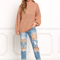 Brick Pullover Chunky Knit Sweater