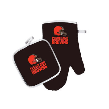 Cleveland Browns NFL Oven Mitt and Pot Holder Set