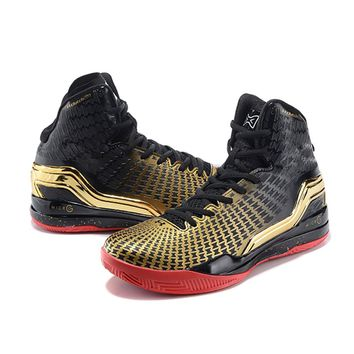Running Shoes Under Armour Curry 2 Boots Black and Gold (3) Men's UA Fireshot Basketball Shoes