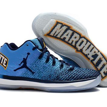 "NIKE ZOOM AIR JORDAN XXXI LOW ""MARQUETTE ""BASKETBALL SHOES"