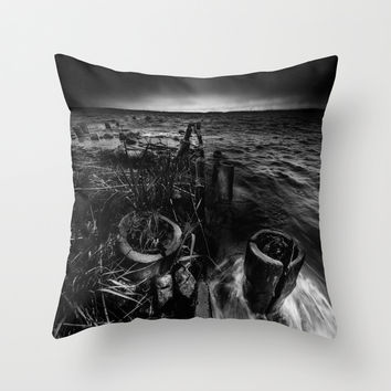The tide Throw Pillow by HappyMelvin
