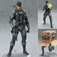 METAL GEAR SOLID 2: SONS OF LIBERTY Figma 243 Snake PVC Action Figure Collectible Model Toy 15cm KT1882  80's
