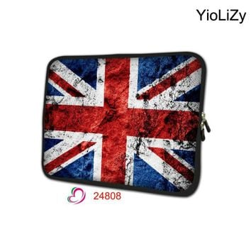 British flag 7 9.7 11.6 13.3 14 15.6 17.3 inch Laptop Notebook sleeve tablet bag cover for Macbook Pro 11 13 15 17 Case NS-24808
