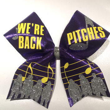 "3"" width We're Back Pitches Cheer Bow"