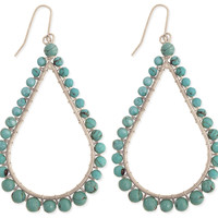 Faux Turquoise Beaded Teardrop Earring