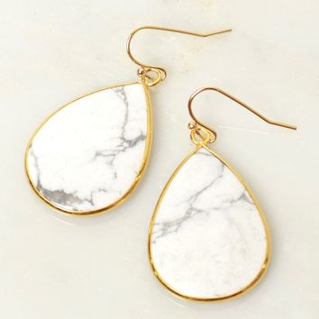 Take Me For Granite Stone Earrings Marble
