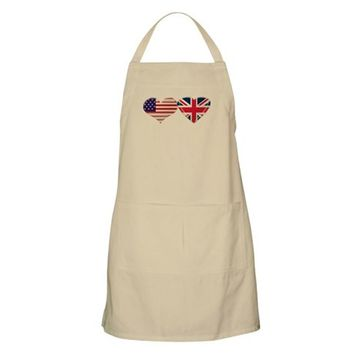 USA AND UK HEART FLAG APRON
