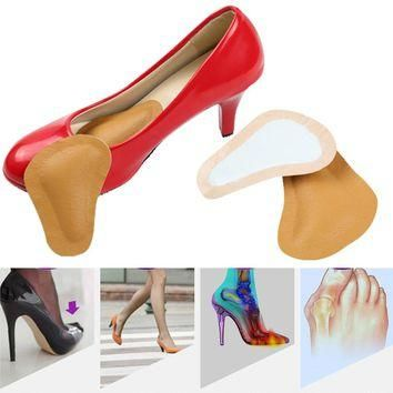 Foot Care Tool High-heeled Shoes Forefoot Pad leather Cushion Pad Orthotic Insole Half