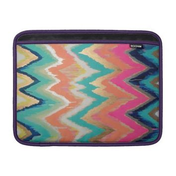 Watercolor Bright Chevron Zig Zag Stripe Pattern MacBook Air Sleeve